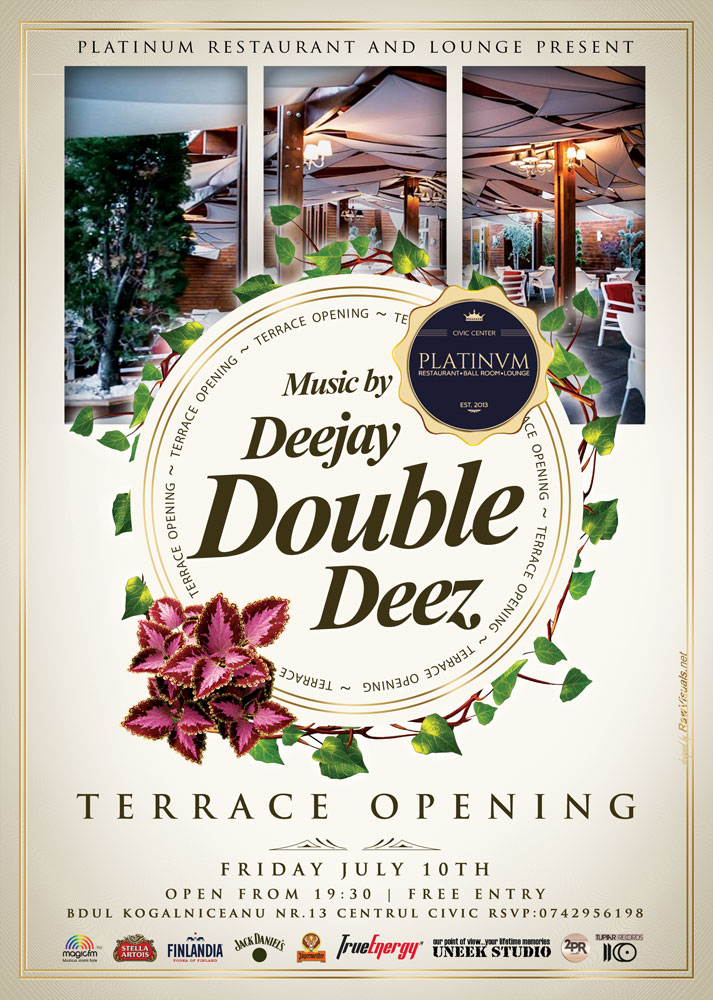 terrace opening with 2pr agency double deez