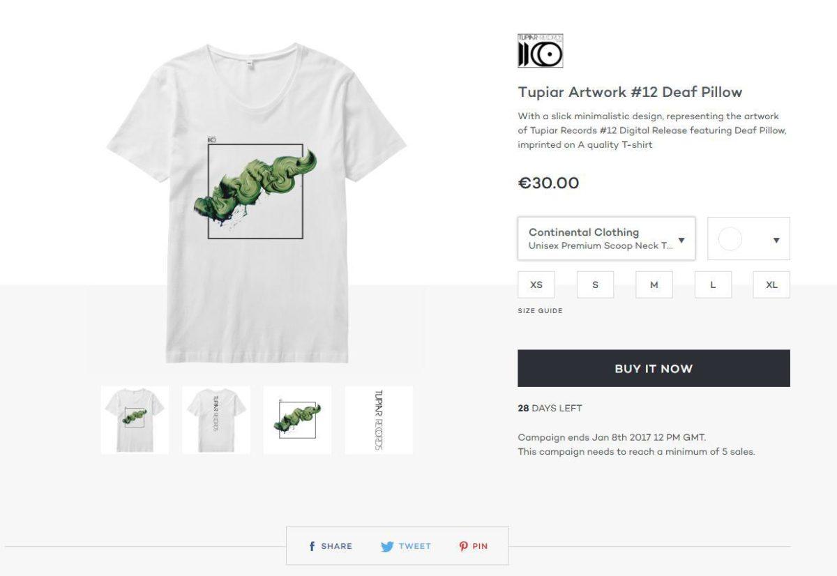 Tupiar 12 Release T shirt w/ Deaf Pillow Artwork